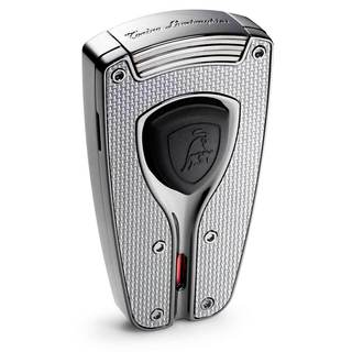 Tonino Lamborghini Forza Gunmetal and Carbon Fiber Torch Flame Lighter (Ships Degassed)