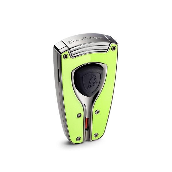 Tonino Lamborghini Forza Green Lacquer Torch Flame Lighter (Ships Degassed)