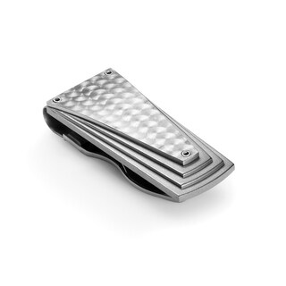 Tonino Lamborghini Motore Stainless Steel Money Clip