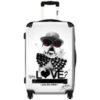 iKase Street Love 20-inch Carry On Hardside Spinner Upright Suitcase