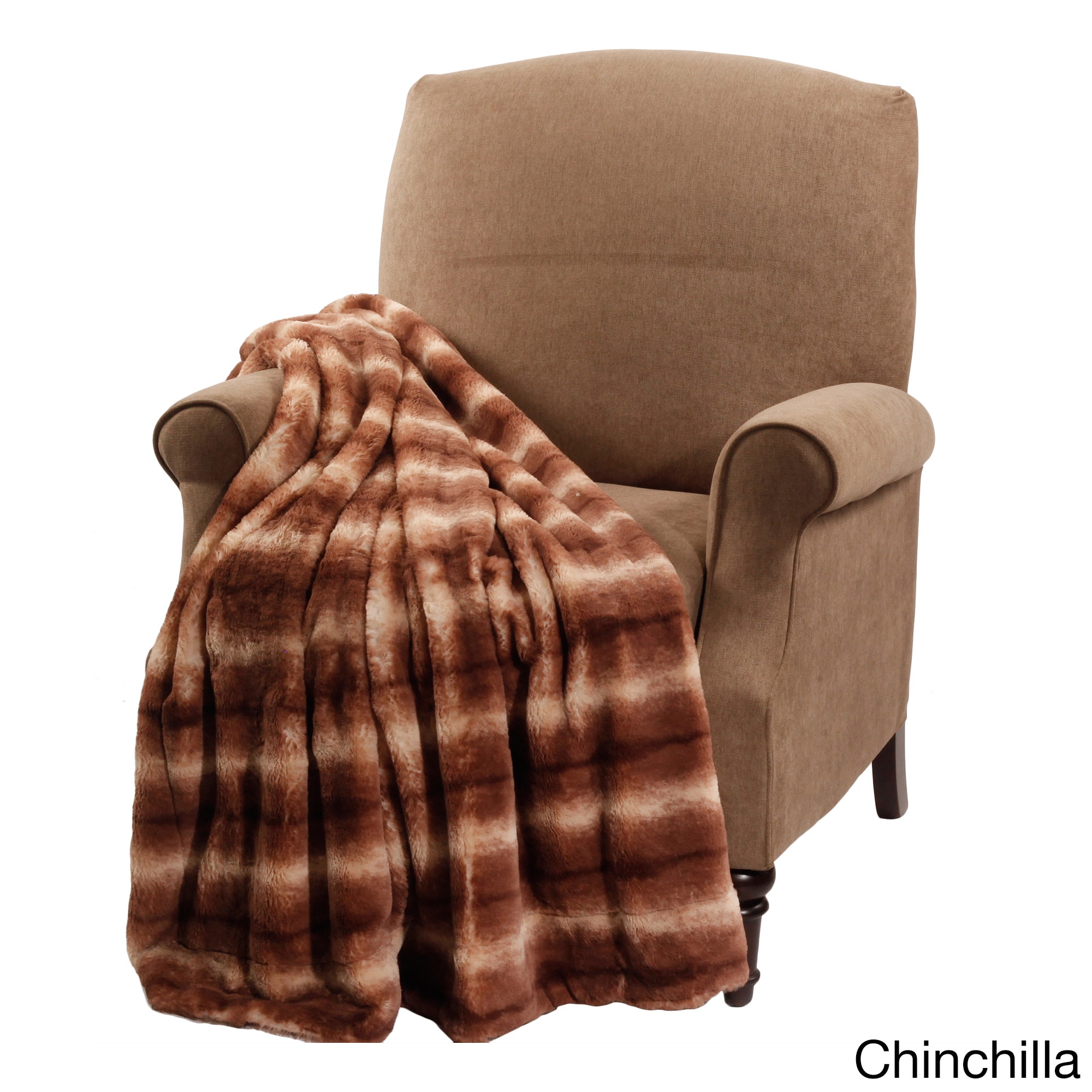 BNF Boon Animal Faux Fur Throw (Chinchilla), Brown (Polye...