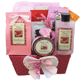 Tranquil Delights Spa Bath and Body Peony Gift Basket