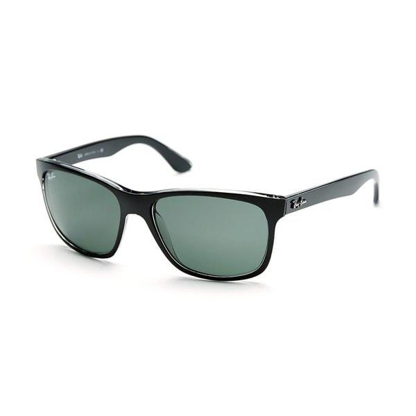 6ccc4b76f1 Ray-Ban Classic RB4181 Unisex Black Grey Frame Green Lens Sunglasses