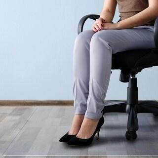 "Cleartex MegaMat Heavy Duty Chair Mat for Hard Floors or Carpets Size 46"" x 60"""