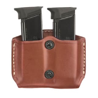 G&G Chestnut Brown Double Mag Case with Belt Loops