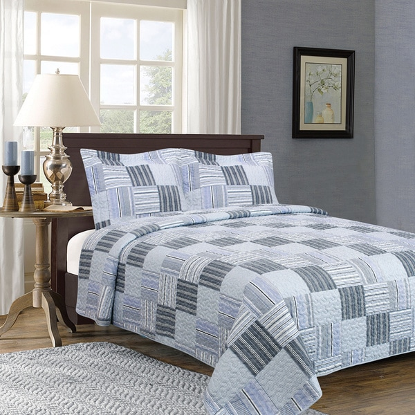 Home Fashion Designs Everly Collection 3-Piece Printed Quilt Set with Shams