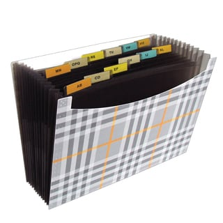 C-Line Products 13-pocket Plaid Expanding Files (Set of 3)