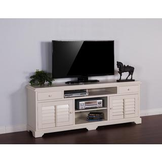 "Sunny Designs Vintage White 78"" Console"