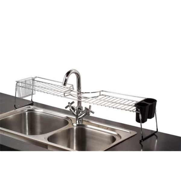 Home Basics Chrome Over The Sink Shelf