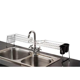 Home Basics Chrome Plated Steel Over The Sink Shelf