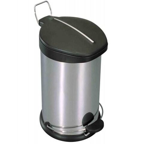 Home Basics Stainless Steel 30-liter Waste Basket