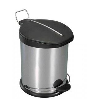 Home Basics Stainless Steel 5-liter Waste Basket