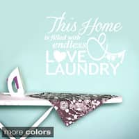 Endless Love and Laundry Decor Wall Decal (38 inches x 30 inches)