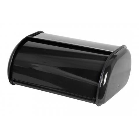 Home Basics Stainless Steel Sliding Door Bread Box