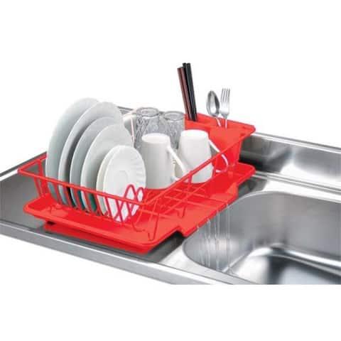 Home Basics 3-piece Dish Rack Drainer Set
