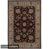 Rizzy Home Traditional Blue/ Red/ Beige Border Bellevue Collection Power-Loomed Accent Rug - 9'2 x 12'6