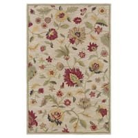 Rizzy Home Transitional Ivory Floral Dimensions Collection Hand-Tufted Accent Rug (8' x 10')