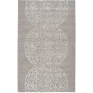 Rizzy Home Transitional Light Brown Abstract Dimensions Collection Hand-Tufted Accent Rug (2' x 3')