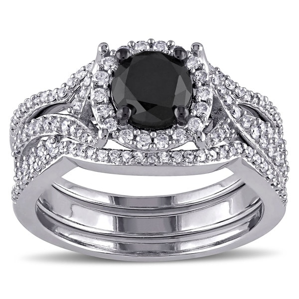 Miadora Signature Collection 10k White Gold 1 1/2ct TDW ...