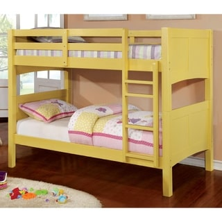 Furniture of America Colorpop Twin Modern Bunk Bed