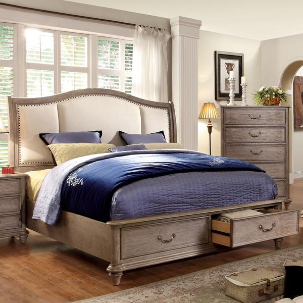 Furniture Of America Minka IV Rustic Grey Storage Platform