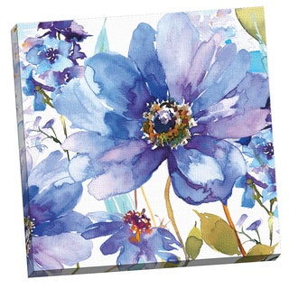 Portfolio Canvas Decor Blue Floral by Harrison Ripley 24x24, Framed and Stretched, Ready to Hang