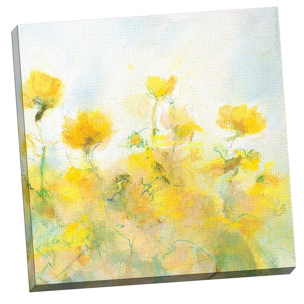 Portfolio Canvas Decor YELLOW FLOWERS by Steve Kuzma 24x24, Framed and Stretched, Ready to Hang