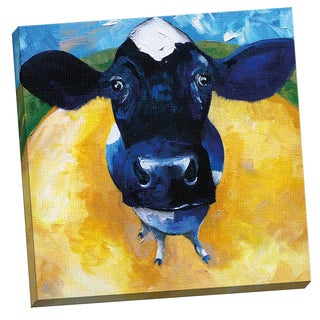 Portfolio Canvas Decor Cow Tale by Sean Parnell 24x24, Framed and Stretched, Ready to Hang