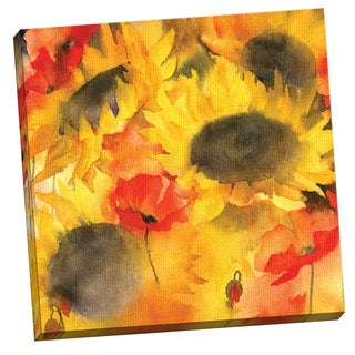 Portfolio Canvas Decor Large Sunflowers and Poppies lores by Rachel McNaughton 24x24, Ready to Hang