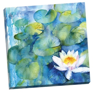 Portfolio Canvas Decor Large Water Lily Watercolor I by Rachel McNaughton 24x24, Ready to Hang