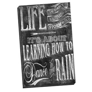 Portfolio Canvas Decor IHD Studio 'Chalkboard - Dance In The Rain 2' Framed Canvas Wall Art