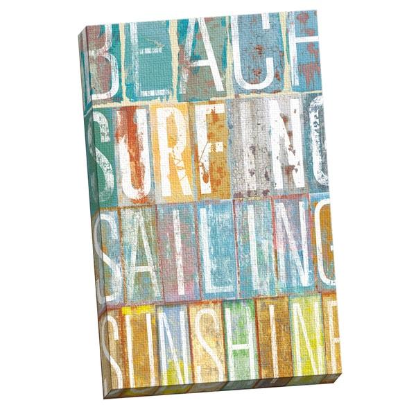 Portfolio Canvas Decor IHD Studio 'Beach Speak 1' Framed Canvas Wall Art