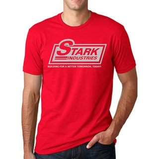Men's Stark Industries Red Cotton T-shirt