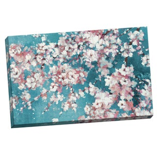 Portfolio Canvas Decor Bridges 'Into the Cherry Blossom Blue ' Framed Canvas Wall Art