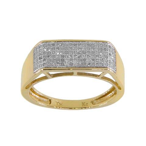 10k Yellow Gold Men's 1/3ct TDW Diamond Wedding Ring