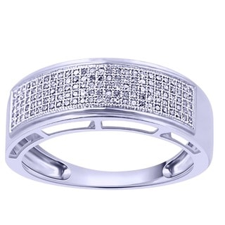 Sterling Silver 1/3ct TDW Diamond Ring (G-H, I2-I3) - White