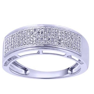 Sterling Silver 1 3ct TDW Diamond Ring G H I2 I3