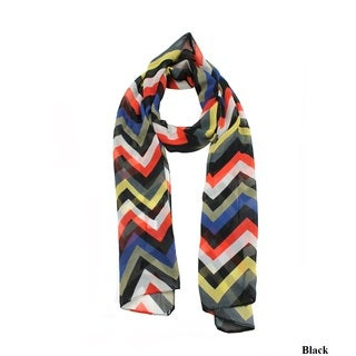 Le Nom Women's Multi Color Light Chevron Scarf