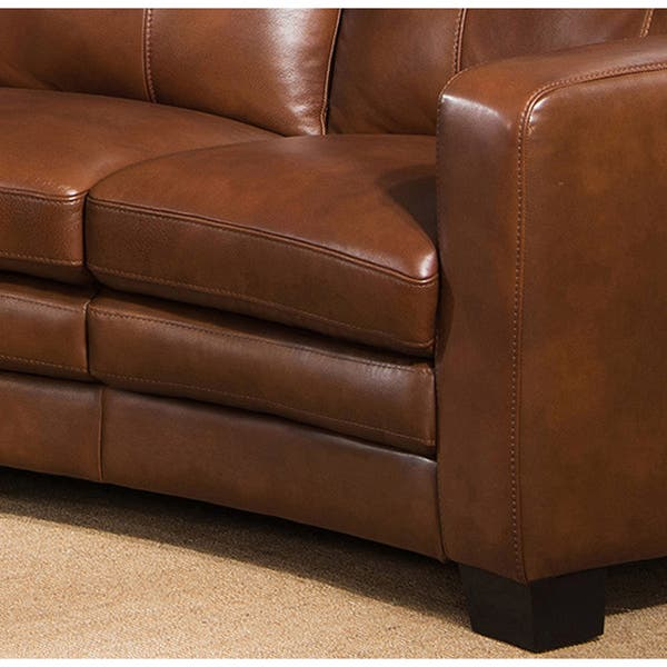 Astonishing Shop Oakbrook Brown Curved Top Grain Leather Sectional Sofa Pdpeps Interior Chair Design Pdpepsorg
