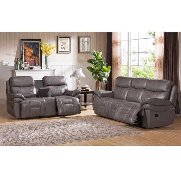 Argo Grey Premium Top Grain Leather Lay Flat Reclining