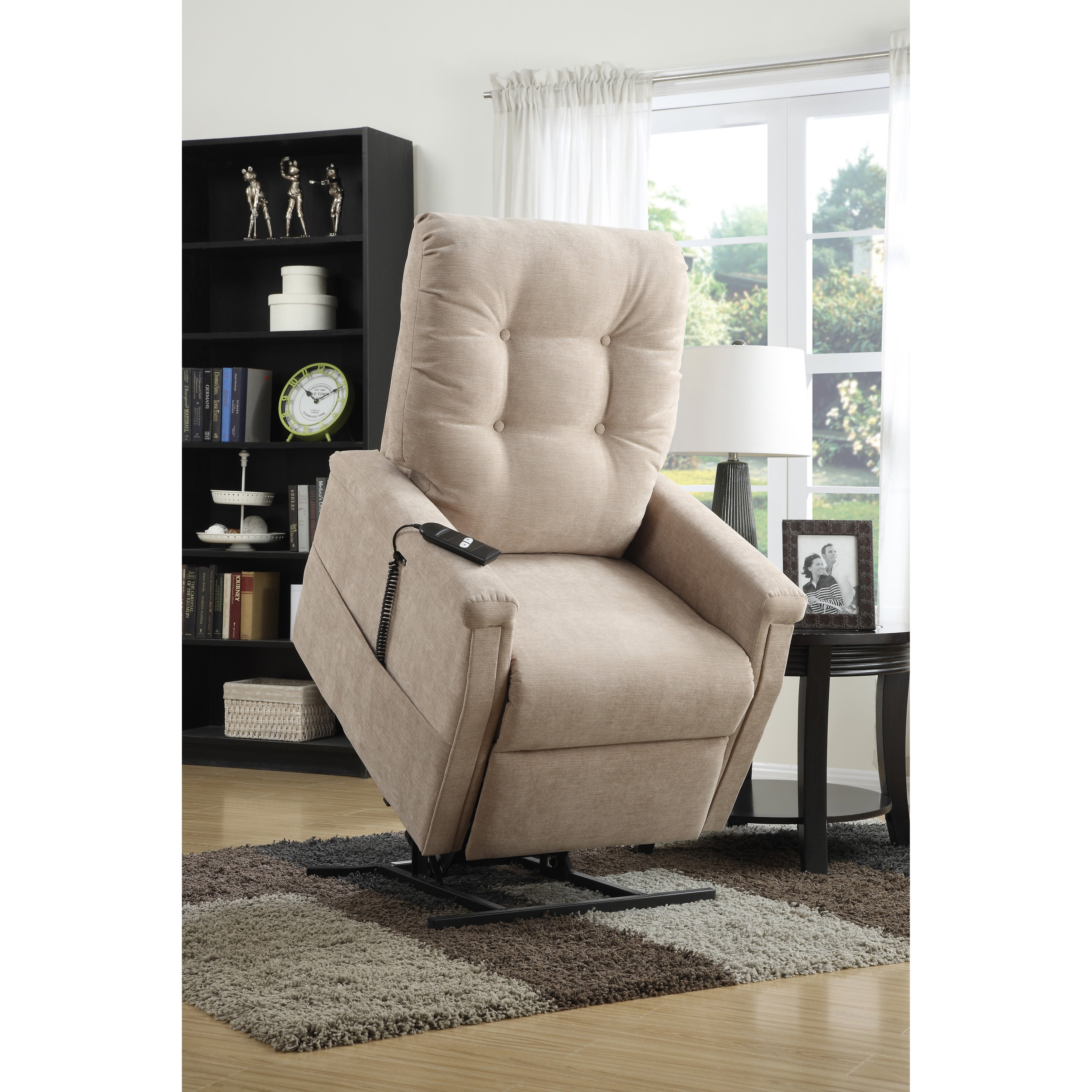 Picture of: Shop Black Friday Deals On Morton Beige Fabric Power Lift Chair Recliner Overstock 10303521