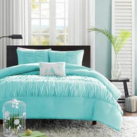 Mi Zone Cristy 4-piece Full/ Queen Size Comforter Set in Blue (As Is Item)