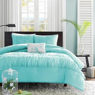 Mi Zone Cristy 4-piece Full/ Queen Comforter Set in Full/Queen Blue (As Is Item)