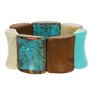 Alexa Starr Chunky Square Bead Stretch Bracelet