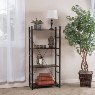 Bolton Four-Shelf Industrial Bookcase by Christopher Knight Home