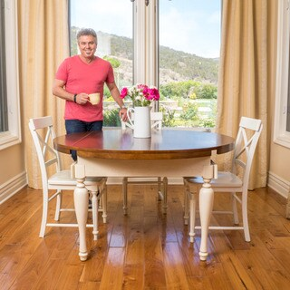 Clearwater Multi-Colored Double Drop Leaf Wood Dining Table (ONLY) by Christopher Knight Home