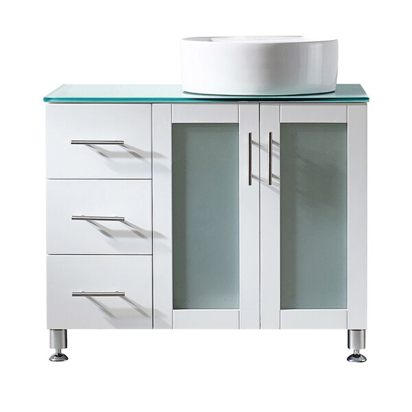 bathroom vanity without sink top vinnova tuscany 36 inch single vanity in white with white 22547