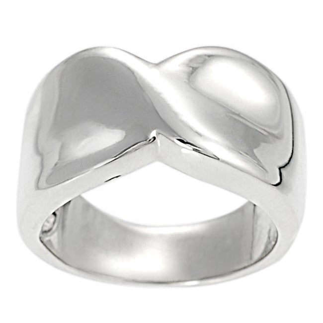 Journee Sterling Silver High Polish Fashion Ring