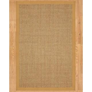 Handcrafted Banfield Sisal Sage/ Khaki Rug (8' x 10') with Bonus Rug Pad