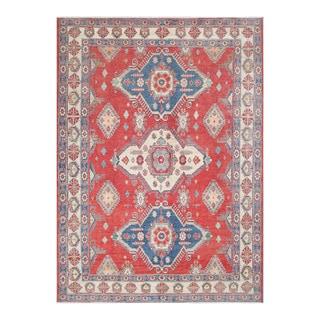Herat Oriental Afghan Hand-knotted Tribal Vegetable Dye Kazak Wool Rug (8'7 x 11'11)